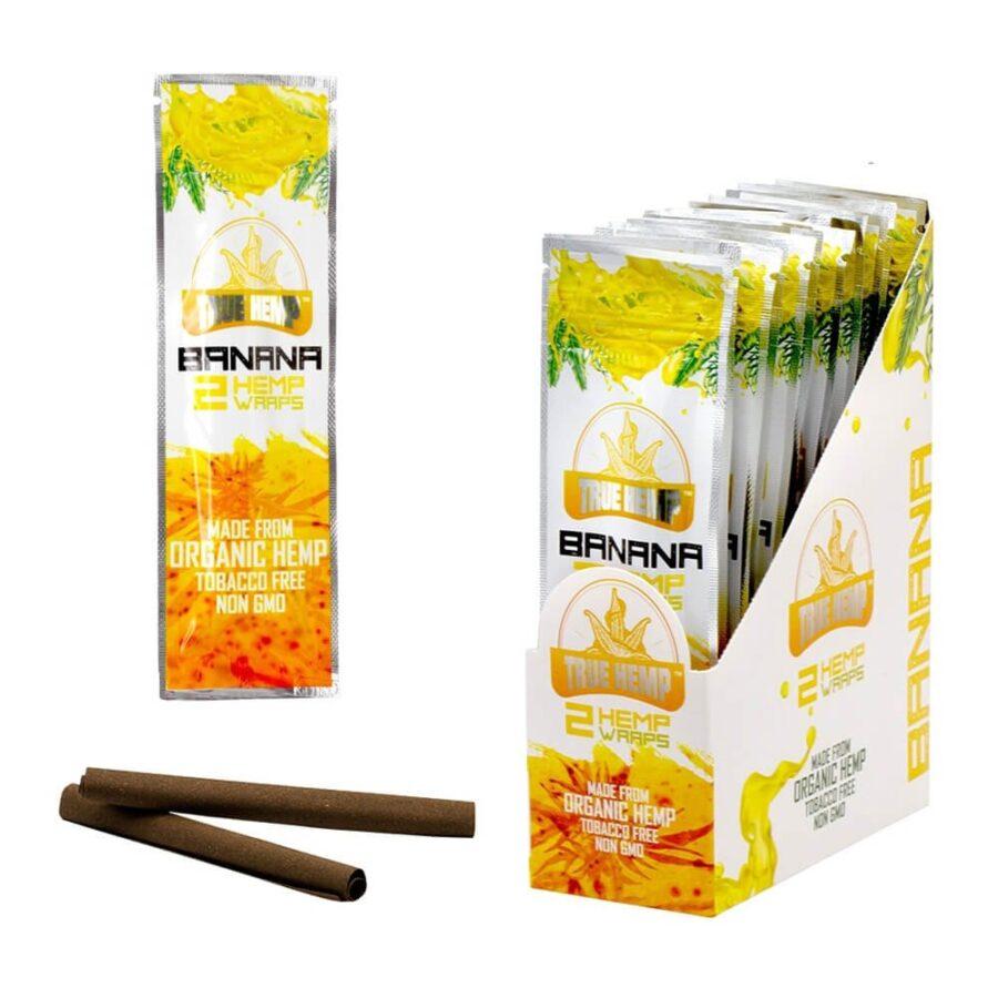 True Hemp Tobacco Free Banana Hemp Wraps Honey (25pcs/display)