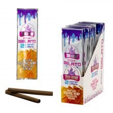 True Hemp Tobacco Free Sticky Gelato Hemp Wraps  (25pcs/display)