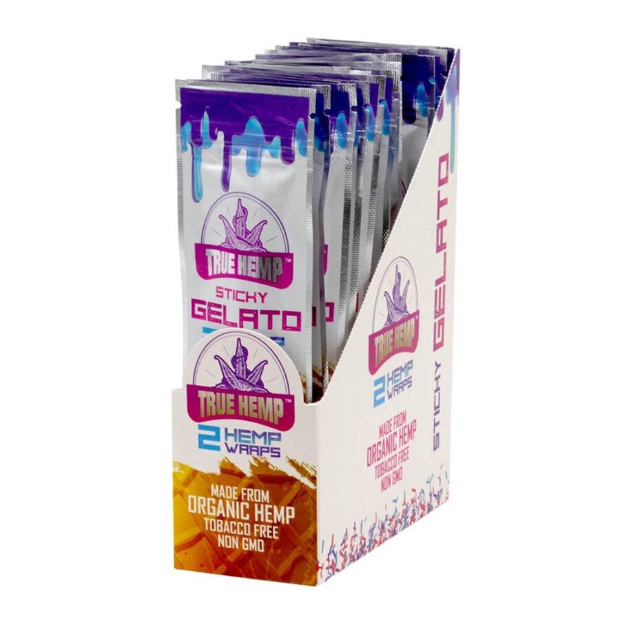 True Hemp Tobacco Free Sticky Gelato Hemp Wraps  (25pcs/display)
