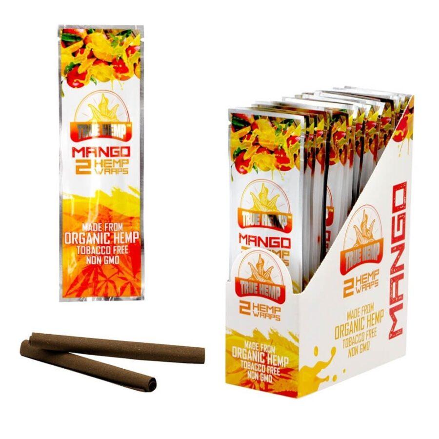 True Hemp Tobacco Free Mango Hemp Wraps (25pcs/display)