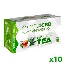 MediCBD Cannabis Black Tea 7.5mg CBD (10packs/lot)