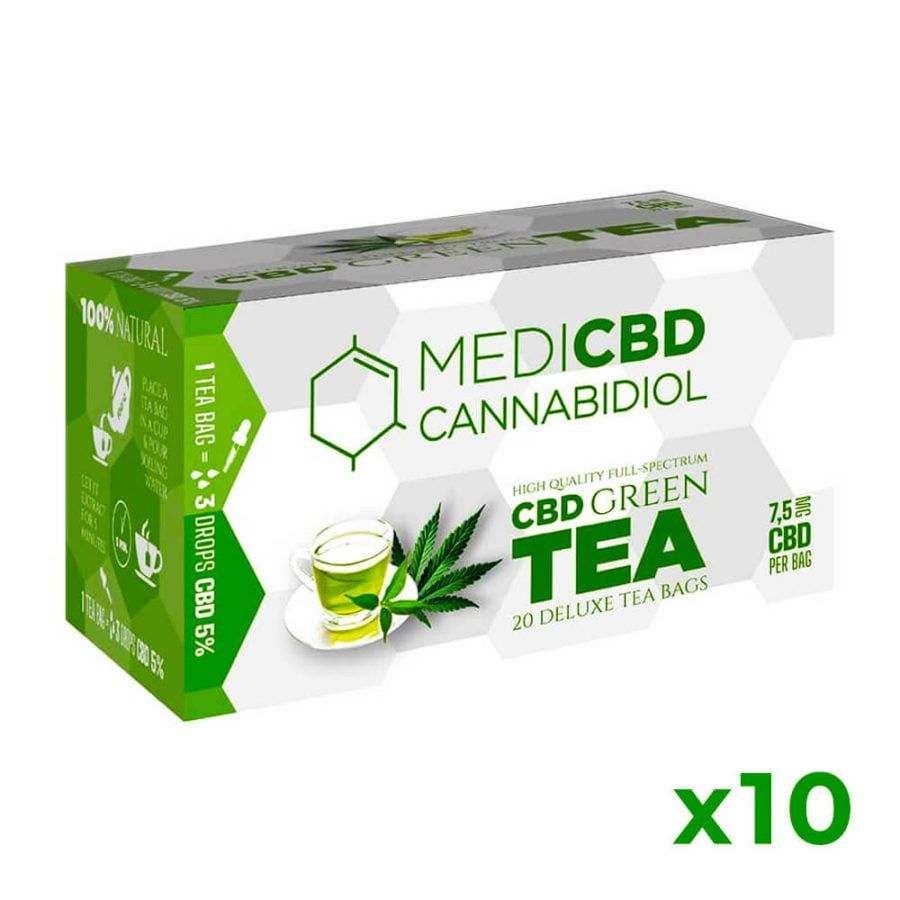 MediCBD Cannabis Green Tea 7.5mg CBD (10packs/lot)