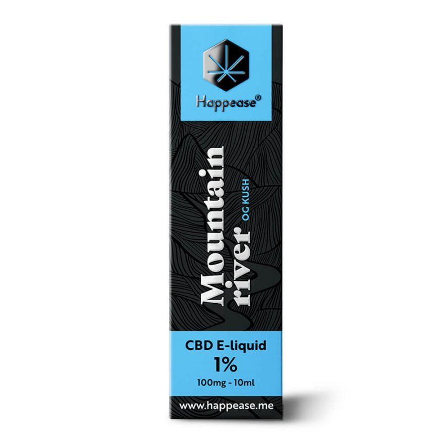Happease CBD E-Liquid Mountain River 1% - 100mg (10ml)