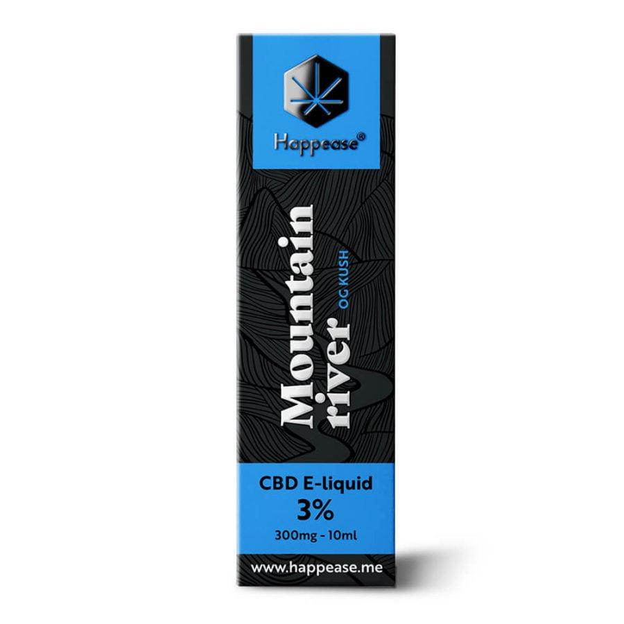 Happease CBD E-Liquid Mountain River 3% - 300mg (10ml)