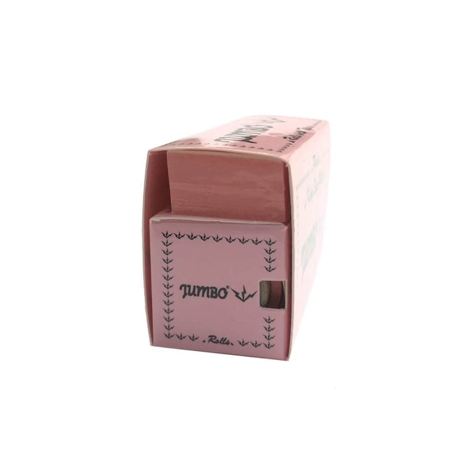Jumbo Pink Roll Rolling Papers + Tips (24pcs/display)