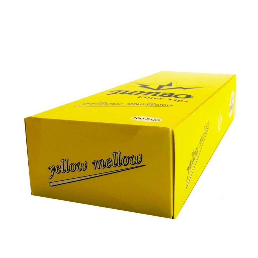 Jumbo Bleached Filter Tips Mellow Yellow (100pcs/display)