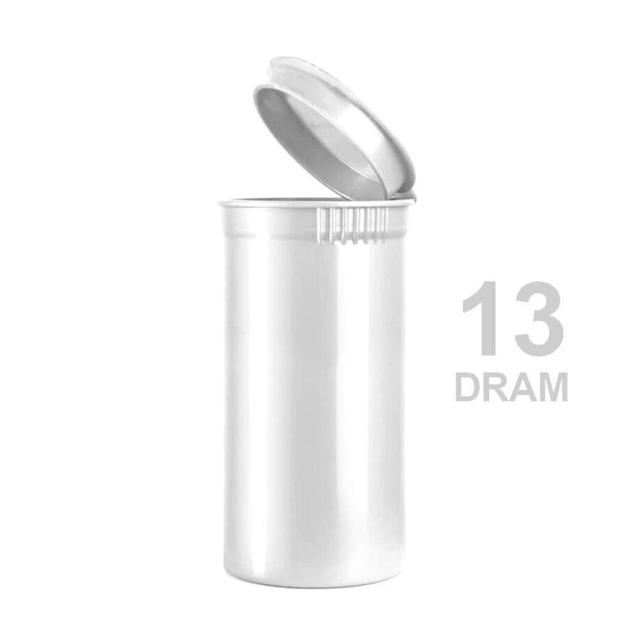 Poptop White Plastic Container Small 13 Dram - 35mm