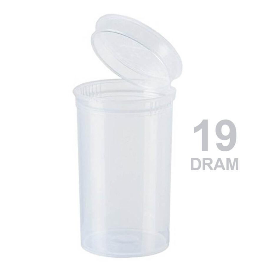 Poptop Transparent Plastic Container Medium 19 Dram - 40mm