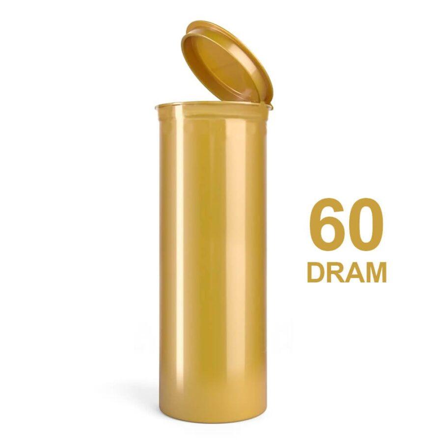 Poptop Gold Plastic Container Big 60 Dram - 50mm