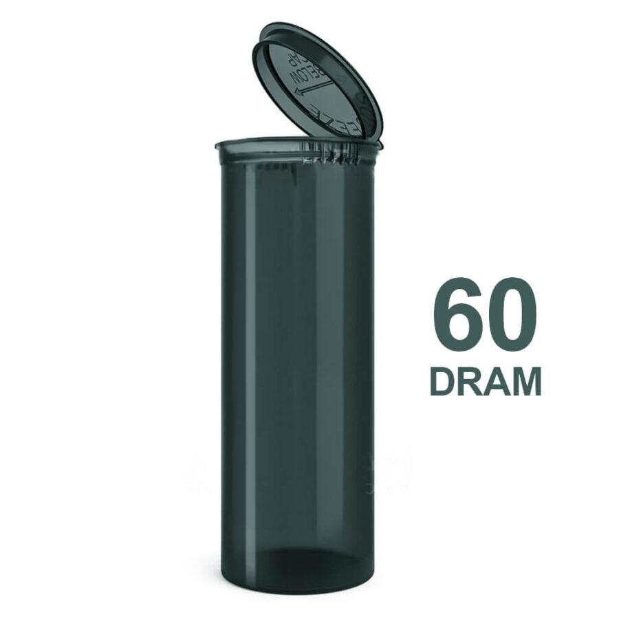 Poptop Petrol Plastic Container Big 60 Dram - 50mm