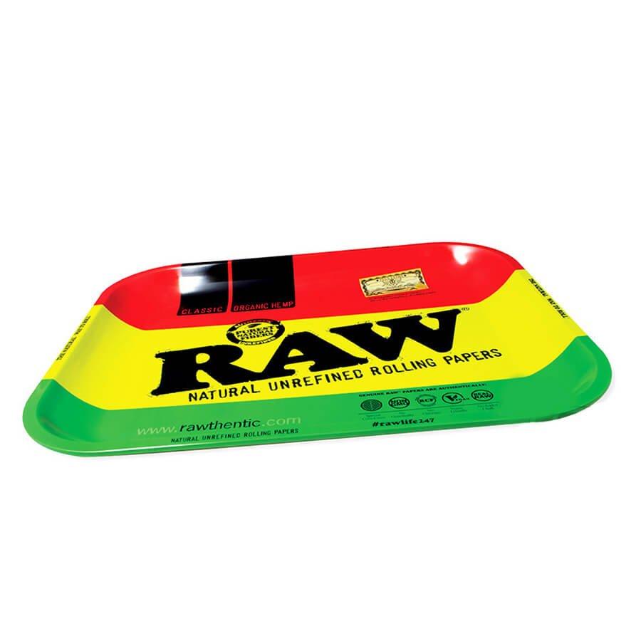 RAW Rasta Rolling Tray Large