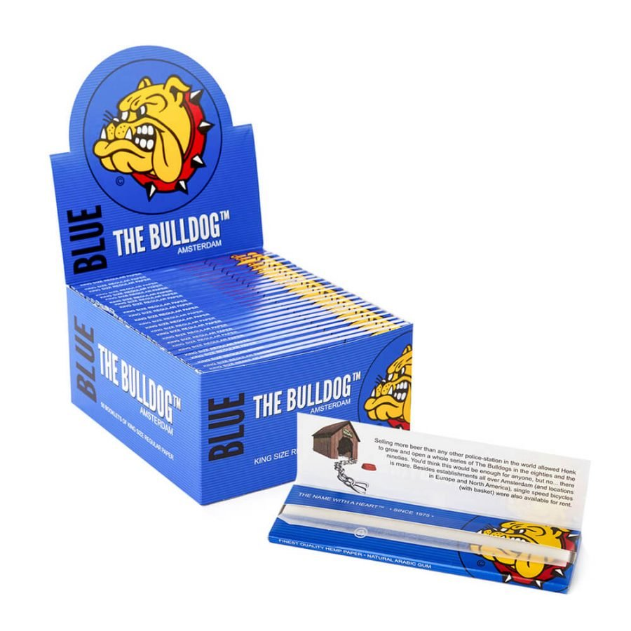 The Bulldog Blue King Size Slim Rolling Papers (50pcs/display)