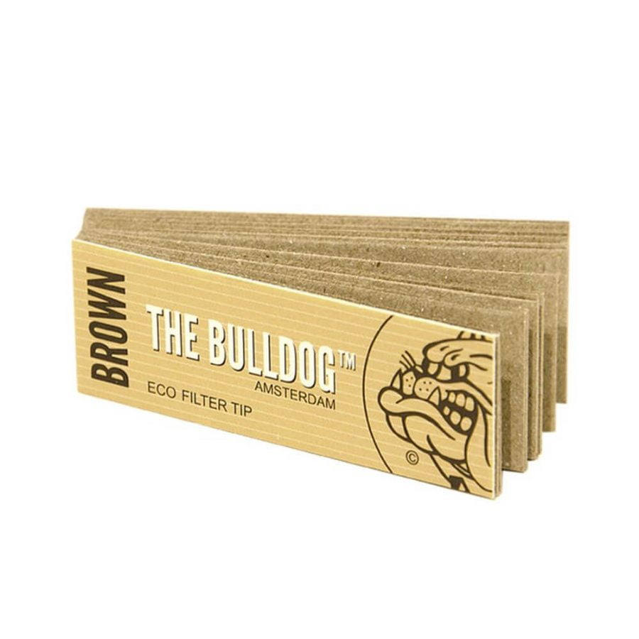 The Bulldog Brown Unbleached Filter Tips (50pcs/display)