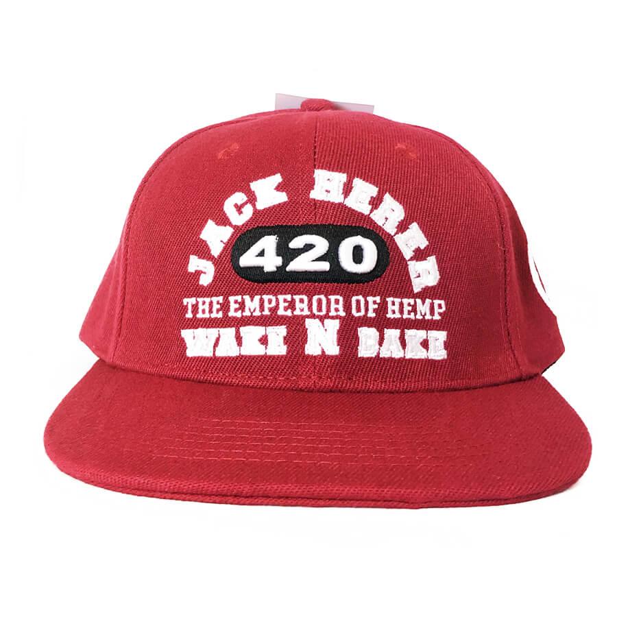 Lauren Rose - Wake N Bake Red + Built-In Stash 420 Hat