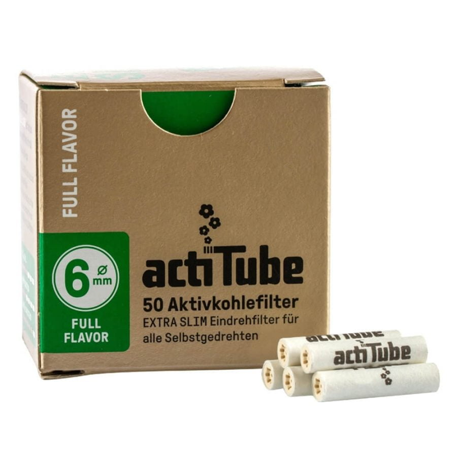 ActiTube Gold Extra Slim Filters 6mm (10pcs/display)