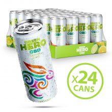 Green Hero Sparkling Lemonade 10mg CBD THC Free (24cans/masterbox)