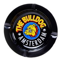 The Bulldog Original Black Metal Ashtray