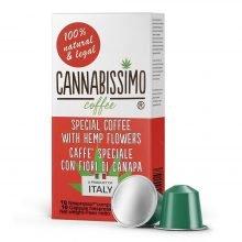 Cannabissimo Nespresso Coffee Capsules with Hemp Flowers (10 capsules)