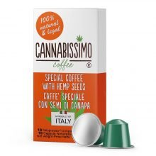 Cannabissimo Nespresso Coffee Capsules with Hemp Seeds (10 capsules)