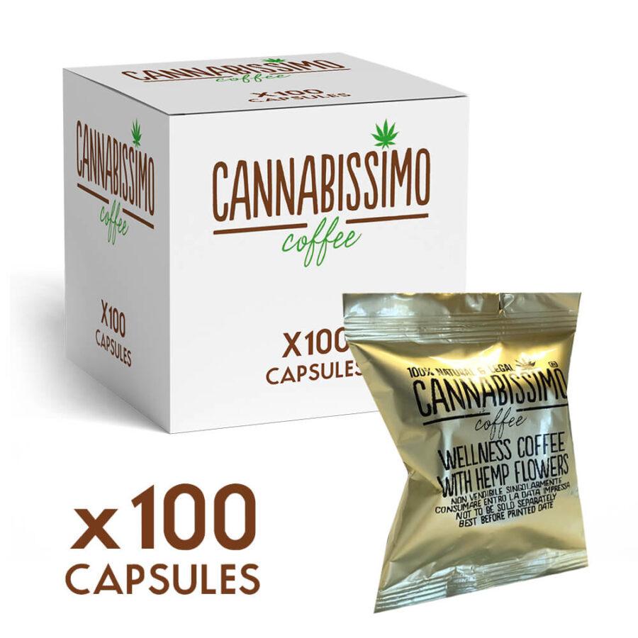 Cannabissimo Nespresso Coffee Capsules with Hemp Flowers (100 capsules)