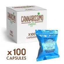 Cannabissimo Nespresso Coffee Capsules with Hemp Leaves (100 capsules)