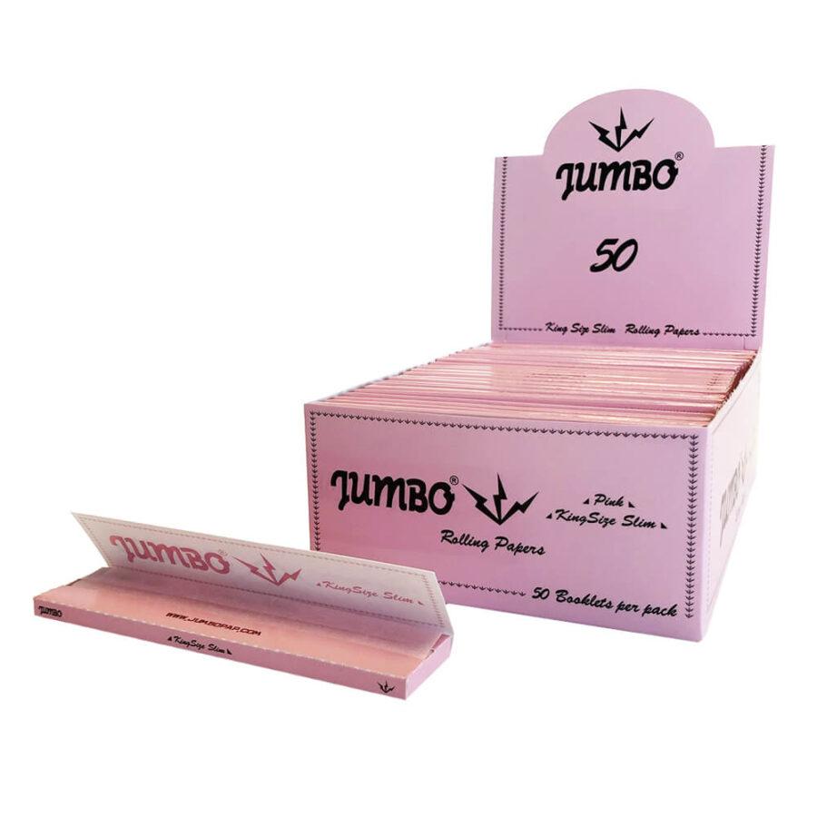 Jumbo Pink King Size Rolling Papers (50pcs/display)