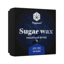 Happease Extracts Mountain River Sugar Wax 62% CBD (1g)