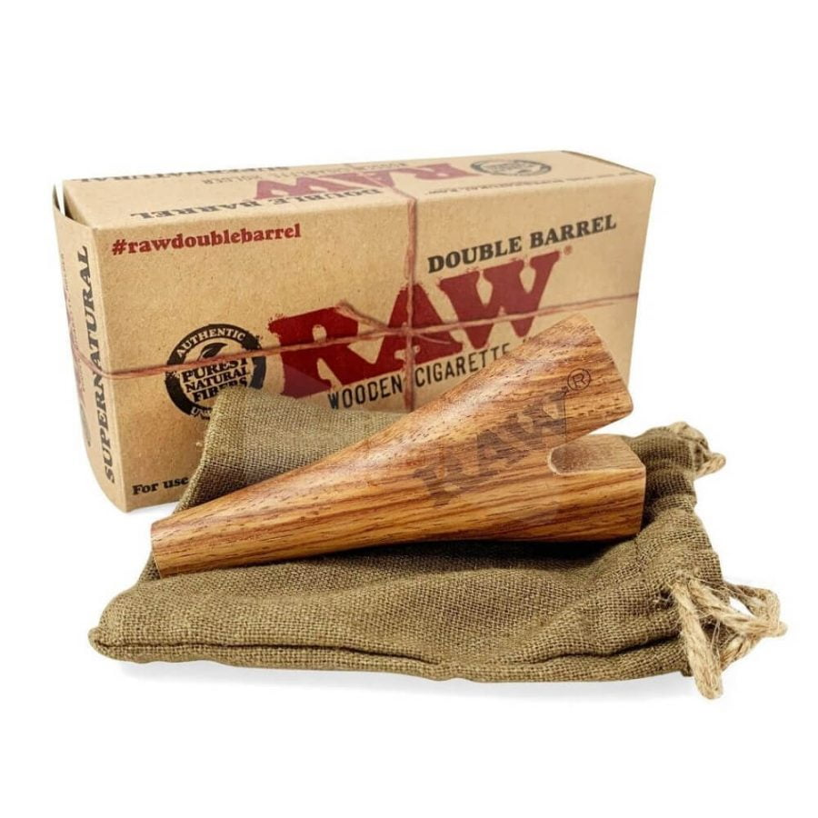 RAW Wooden Double Barrel Holder