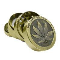 Weed leaf 2 metal grinder 40mm - 4 parts (6pcs/display)