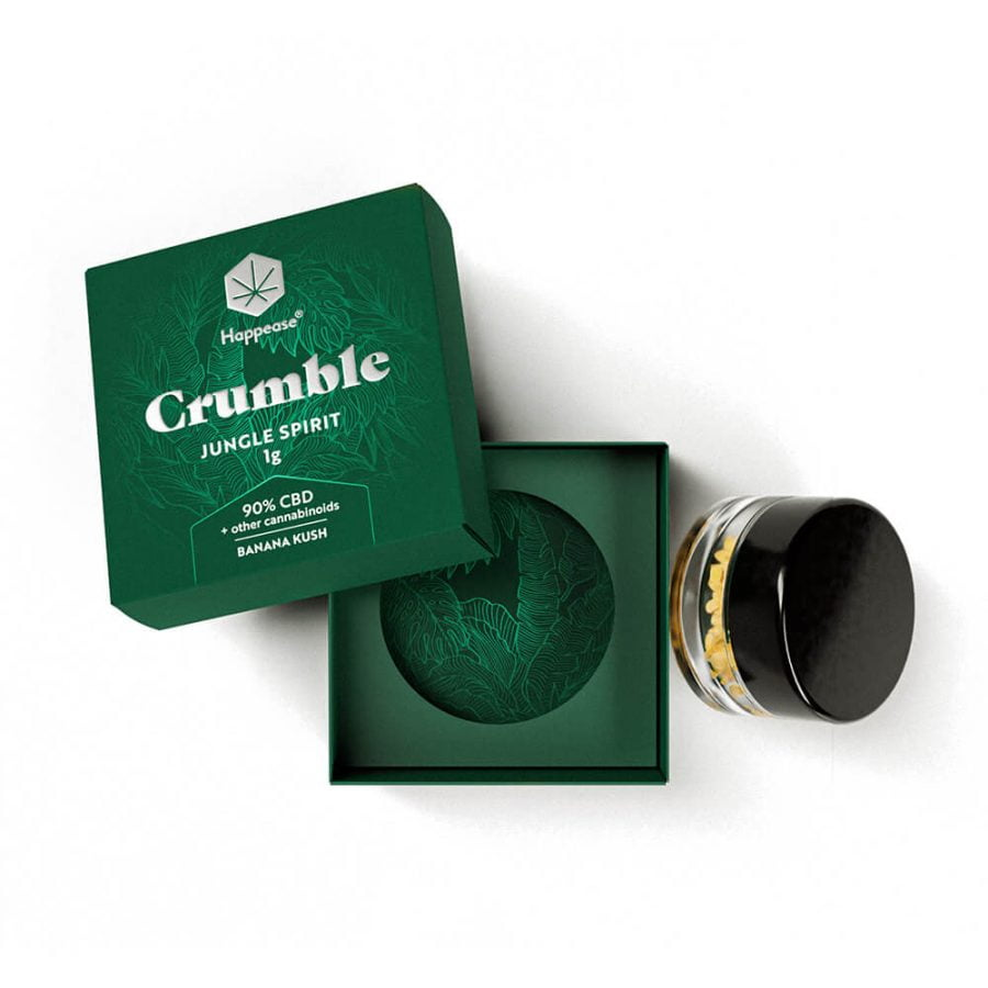 Happease Extracts Jungle Spirit Crumble 90% CBD + Other Cannabinoids (1g)