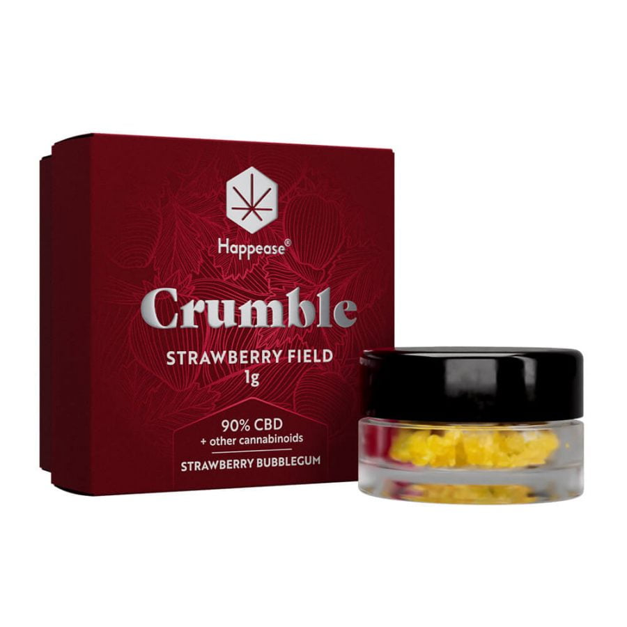 Happease Extracts Strawberry Field Crumble 90% CBD + Other Cannabinoids (1g)