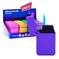 Prof Fluo Color Windproof Blue Flame Lighters (20pcs/display)