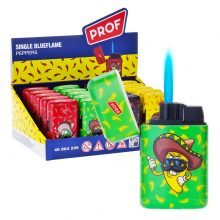 Prof Hot Peppers Windproof Blue Flame Lighters (20pcs/display)