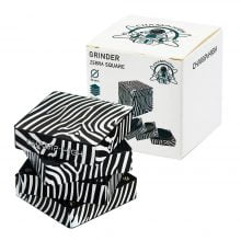 Champ High Zebra Square Metal Grinder 50mm - 4 Parts