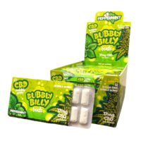 Cannabis Bubbly Billy Peppermint Chewing Gum 17mg CBD THC Free (24pcs/display)
