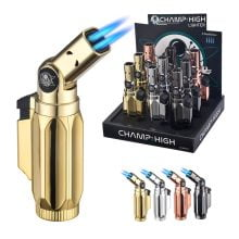 Champ High Master Pro 4x Flames Windproof Lighters (9pcs/display)