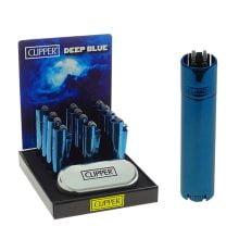Clipper Deep Blue Metal Lighters + Giftbox (12pcs/display)