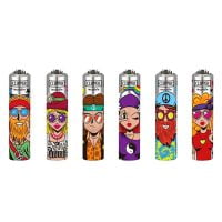 Clipper Metal Cover Lighters Hippie (48pcs/display)
