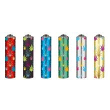 Clipper Metal Cover Lighters Leaves 2 (48pcs/display)