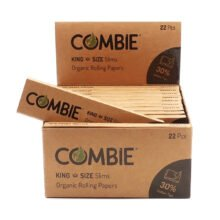 Combie KingSize Slim Rolling Papers + Tips (22pcs/display)