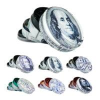 Metal Grinder US President Dollar Bill 4 Parts - 50mm (6pcs/display)