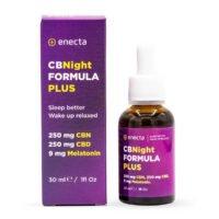 Enecta CBNight Formula Plus 250mg CBN + 250mg CBD + 9mg Melatonine (30ml)