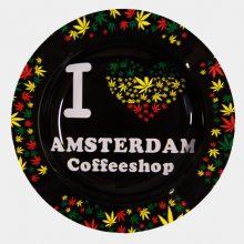 Posacenere in Metallo Rasta lascia I love Ams Coffeeshop posacenere in Metallo