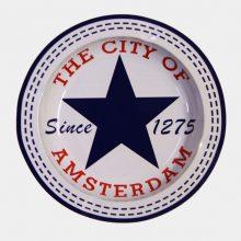 Posacenere in Metallo Blue Star City of Amsterdam