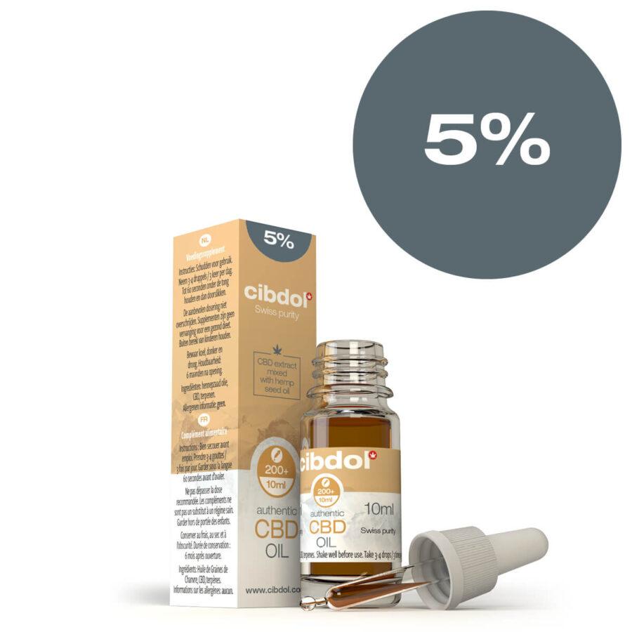 Cibdol Olio di CBD 15% con Olio di Semi di Canapa (10ml)