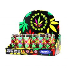 Atomic Accendini con Cover in Silicone 3D Weed Leaf Jungle (24pezzi/display)