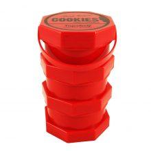 Cookies Barattolo Rosso per Conserve di Cannabis 3 parti