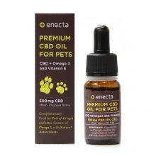 Enecta Olio di CBD 5% 500mg per animali domestici con Omega 3 e Vitamina E (10ml)