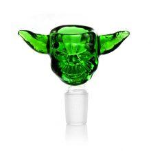 Braciere per Bong in vetro verde alieno 14mm
