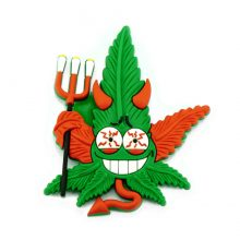 Hempy The Devil Cannabis Magnete 3D in silicone